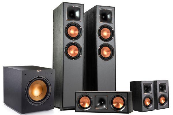 Large image of Klipsch 5.1.2 Dolby Atmos Speaker System Package With Subwoofer - KLIPSCHATMOS512