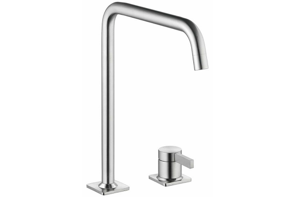 Large image of KWC Era Stainless Steel Single Lever Swivel Faucet - 10.392.022.700