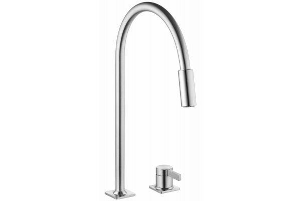 Large image of KWC Era Stainless Steel Single Lever Pull-Down Faucet - 10.392.323.700