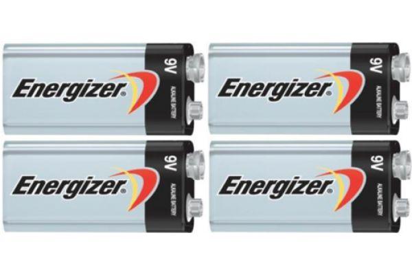 Energizer MAX 9V Alkaline Batteries (4 Pack) - 9V4PACK-E