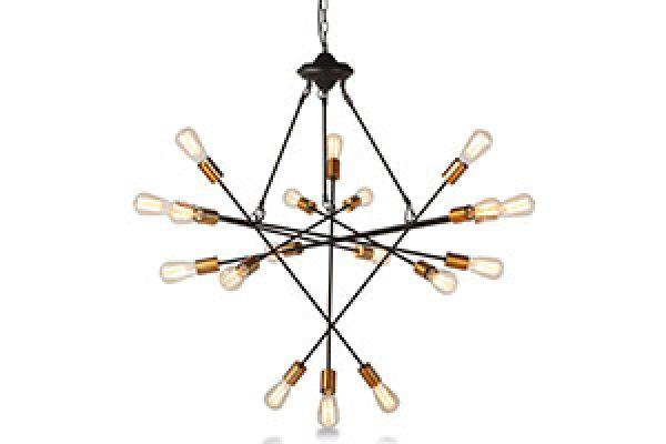Large image of Home Trends & Design Luminaire Sputnik Multi-Light Chandelier - GLM-CL7BM