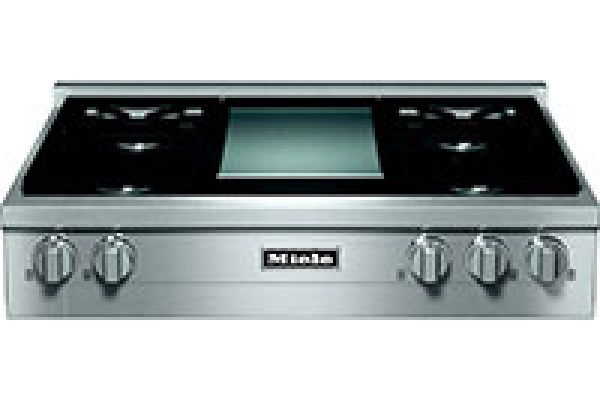 """Miele 36"""" Gas Stainless Steel Rangetop With Griddle - KMR11361GDG"""
