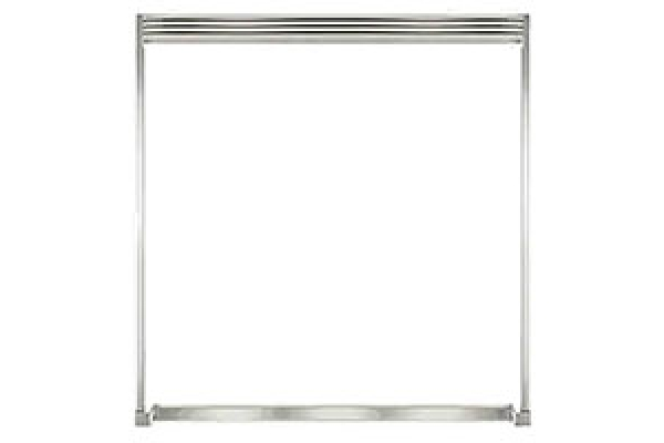 "Large image of Frigidaire Professional 79"" Stainless Steel Louvered Design Dual Trim Kit - TRMKTEZ2LV79"