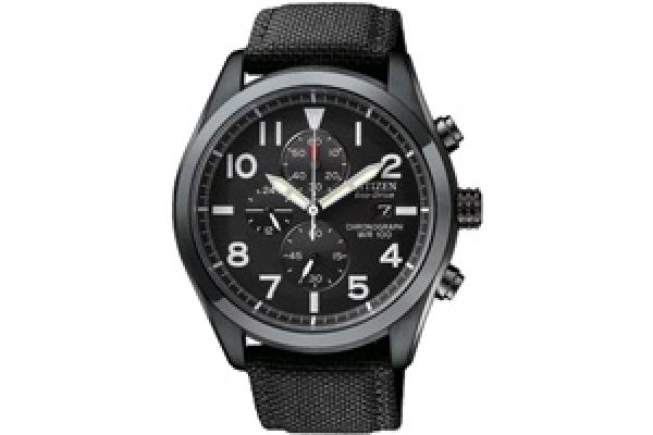 Citizen Eco-Drive Stainless Steel Nighthawk Mens Watch - CA0255-01E