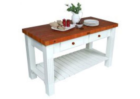 John Boos & Co. Grazzi Cherry Top Kitchen Island - CHY-GRZ-AL