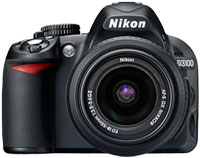 Nikon D3100 Kit Black 14 Megapixel Two Lens Zoom Kit Digital SLR Camera - 13284