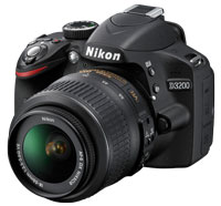 Nikon D3200 Black Digital SLR Kit - 25492