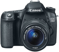 Canon EOS 70D Digital SLR Camera With EF-S 18-55mm IS Lens - 8469B009