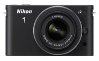 Nikon 1 J2 Black 10.1 Megapixel One-Lens Digital Camera Kit - 27572