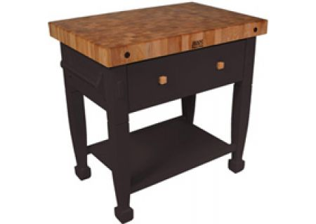 John Boos - JASMN48243-2D-S-BK - Carts & Cutting Boards