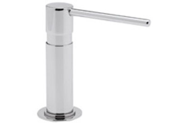 Large image of Rohl Polished Chrome Modern Luxury Soap & Lotion Dispenser - LS2150APC
