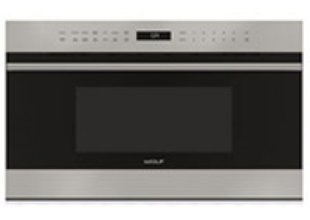 "Wolf 30"" Stainless Steel E Series Transitional Dropdown Door Microwave Oven - MDD30TE/S/TH"