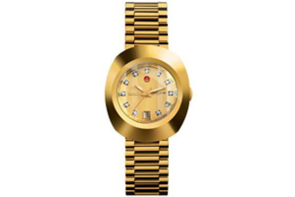 Rado Original Diastar Jubile Gold-Tone Dial Ladies Watch - R12416633