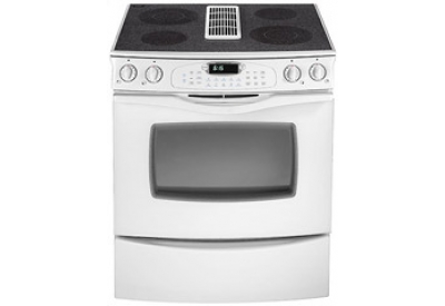 jenn air 30 slide in downdraft electric range in white jes9800aaw abt. Black Bedroom Furniture Sets. Home Design Ideas