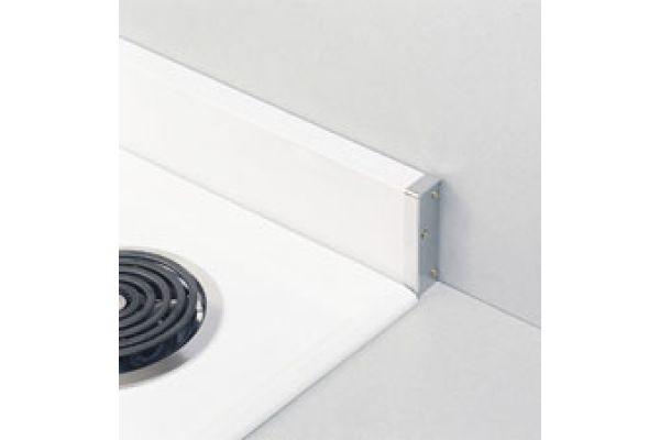 Large image of GE Optional Backguard -  White Painted Metallic Finish - JX27RW
