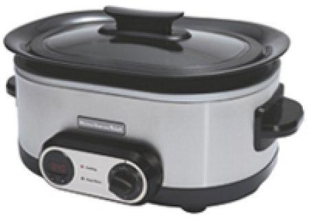Kitchenaid 7 Quart Stainless Steel Slow Cooker Ksc700ss