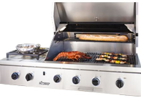 "Dacor Discovery 52"" Stainless Steel Natural Gas Built-In Outdoor Grill - OB52SS"