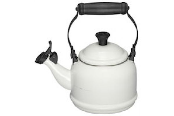 Le Creuset 1.25 Qt. Demi Tea Kettle - White Finish - Q940116