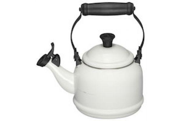Large image of Le Creuset 1.25 Qt. Demi Tea Kettle - White Finish - Q9401-16