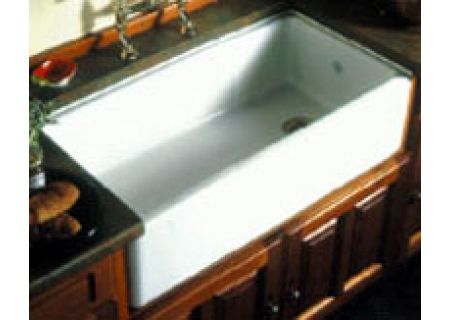 Rohl Single Bowl Fireclay White Kitchen Sink - RC3618
