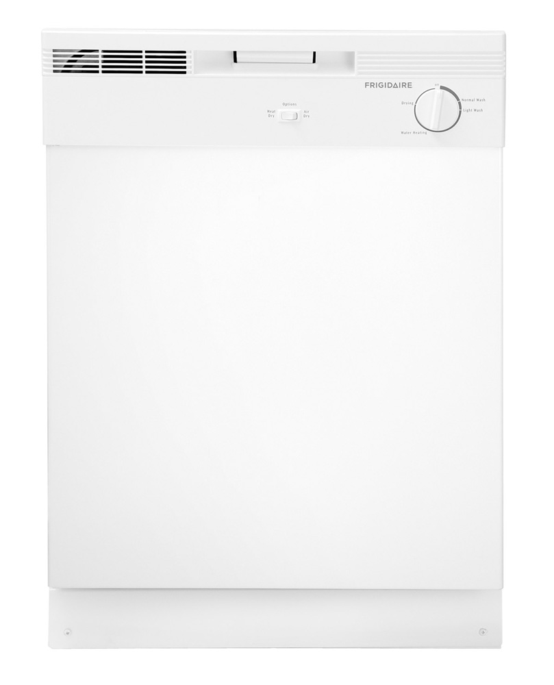 """Frigidaire Stacked Washer Dryer Combo Frigidaire 24"""" White Built-In Dishwasher - FBD2400KW"""