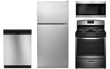 Amana Stainless Steel Top Freezer Refrigerator with Gas Range