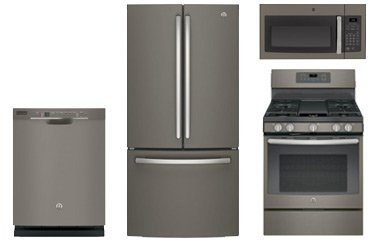 GE Slate French Door Refrigerator with Gas Convection Range ...