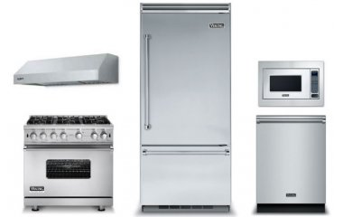 Viking Professional 5 Series Stainless Built-In Bottom Freezer Refrigerator at Kitchen Package
