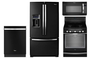 whirlpool gold black ice kitchen appliance package with gas range. Black Bedroom Furniture Sets. Home Design Ideas