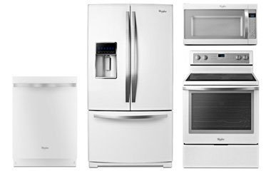 Whirlpool Gold White Ice Appliance Package With Electric