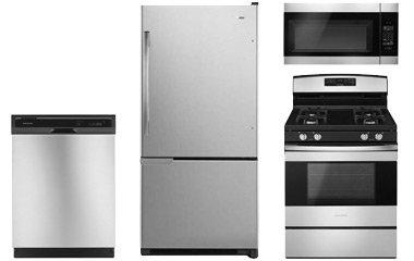Amana Stainless Steel Bottom Freezer Refrigerator With Gas