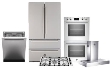 Bertazzoni 5-Piece Stainless Steel Kitchen Appliance Package - Abt.com
