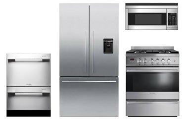 Fisher Paykel Piece Stainless Steel Kitchen Appliance Package - Abt kitchen appliance packages
