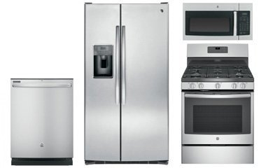 Ge Side By Side Stainless Refrigerator Appliance Package