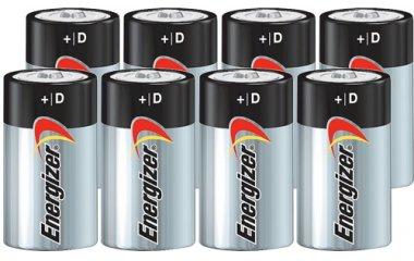 Energizer MAX D Alkaline Batteries - 8 Pack