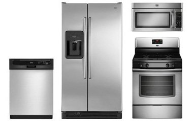 Maytag stainless steel appliance package for Abt appliances