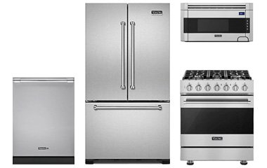 Viking D3 Stainless Steel Appliance Package With Gas Range