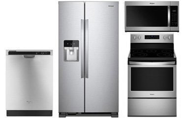 Whirlpool Stainless Steel Side-By-Side Refrigerator with Electric Range