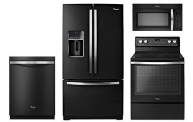 Whirlpool Gold Black Ice Appliance Package With Electric Range