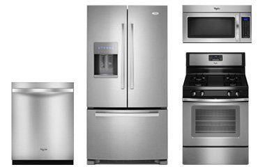 Whirlpool stainless kitchen appliance package - Stainless steel kitchen appliances set ...