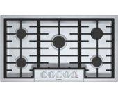 "Bosch 800 Series 36"" Stainless Steel Burner Gas Cooktop"