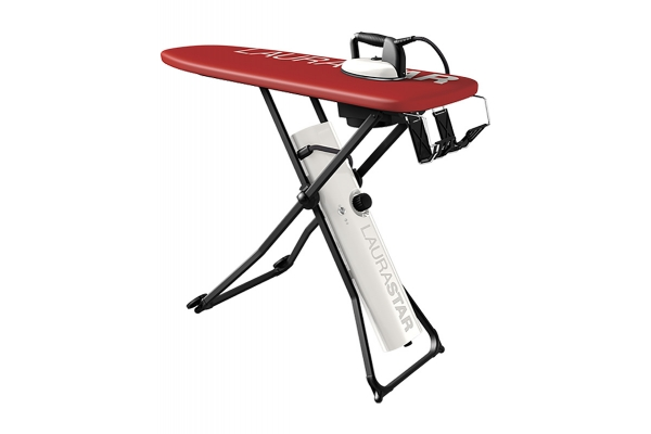 Large image of Laurastar Go+ Red/White Active Ironing Board With Iron - 0000603785