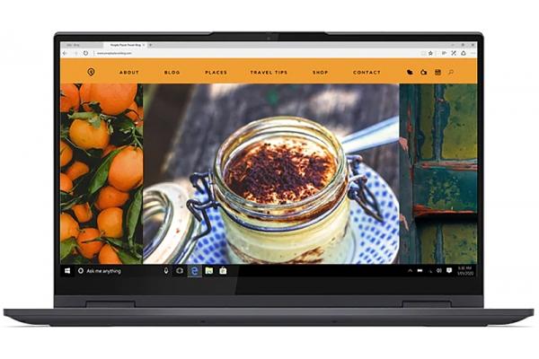 "Large image of Lenovo Yoga 7i 15.6"" Slate Gray Notebook Intel i5-1135G7 8GB RAM 512GB SSD, Intel Iris Xe Graphics - 82BJ0005US"