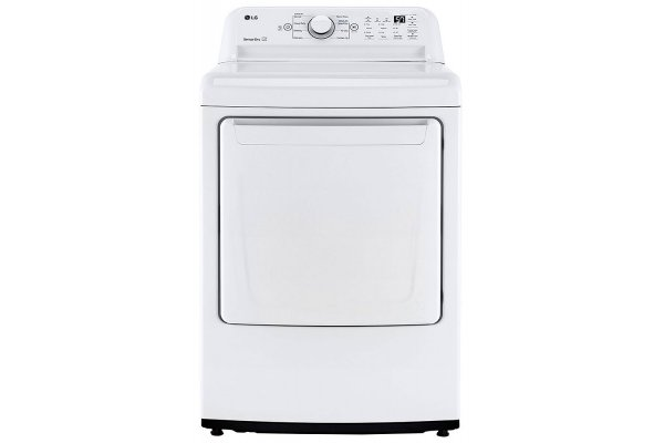 Large image of LG 7.4 Cu. Ft. White Electric Dryer With Sensor Dry Technology - DLE7000W