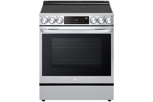 Large image of LG 6.3 Cu. Ft. PrintProof Stainless Steel Smart Wi-Fi Enabled ProBake Convection InstaView Electric Slide-In Range With Air Fry - LSEL6335F