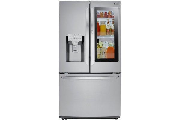 Large image of LG 22 Cu. Ft. PrintProof Stainless Steel Smart Wi-Fi Enabled InstaView Door-In-Door Counter-Depth Refrigerator - LFXC22596S