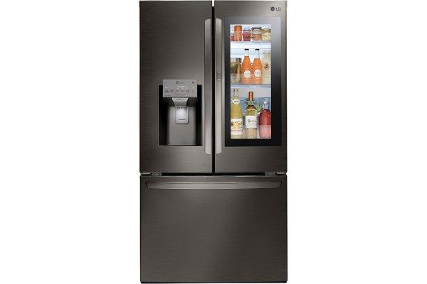 Large image of LG Black Stainless Steel InstaView Door-In-Door French Door Refrigerator - LFXS28596D