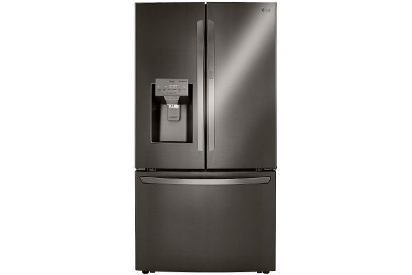 Large image of LG 24 Cu. Ft. PrintProof Black Stainless Steel Smart Wi-Fi Enabled Door-In-Door Counter-Depth Refrigerator With Craft Ice Maker - LRFDC2406D
