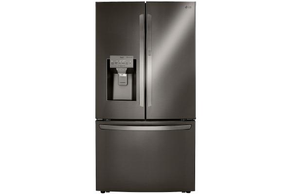 Large image of LG 30 Cu. Ft. PrintProof Black Stainless Steel Smart Wi-Fi Enabled Door-In-Door Refrigerator With Craft Ice Maker - LRFDS3016D
