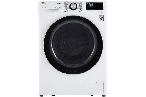 Large image of LG 2.4 Cu. Ft. White Smart Wi-Fi Enabled Compact Front Load Washer With Built-In Intelligence - WM1455HWA
